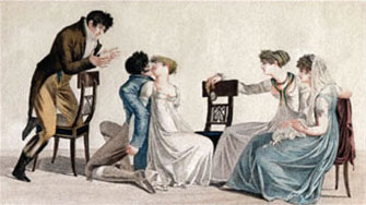 During the Regency, rules about what was proper for women to do in the city vs the country could make one's head spin. Permissible waltzing in London. Not permissible: waltzing before your debut—or worse, waltzing at a country gathering.